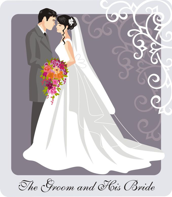 Bride clipart wedding couple #5