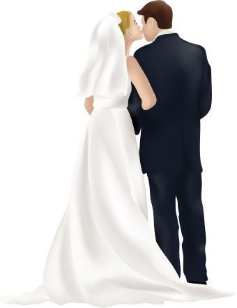 Wedding clipart couple Groom Bride and a look
