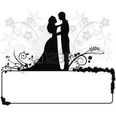 Couple clipart wedding vector Couple Couple on Wedding Pin