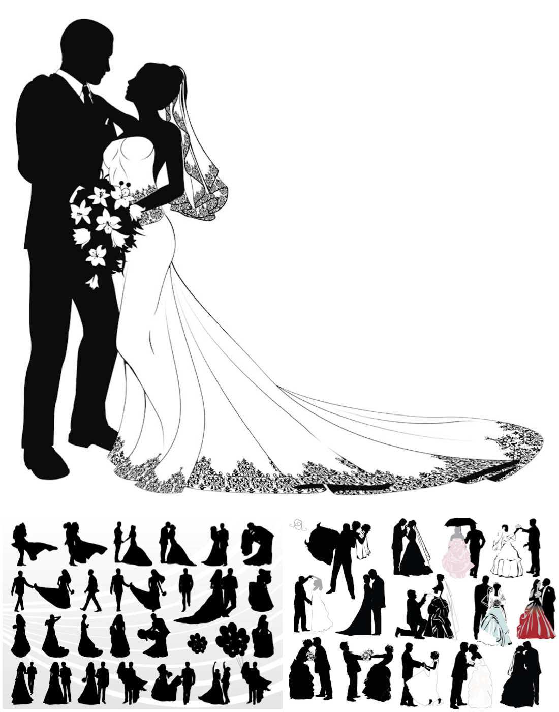 Wedding Cake clipart bridal couple Wedding wedding couple vector Cartoon
