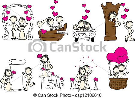 Vector clipart marriage #6
