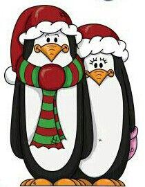 Penguin clipart penguin couple W  ArtXmasCoupleChristmasDrawings Christmas Christmas