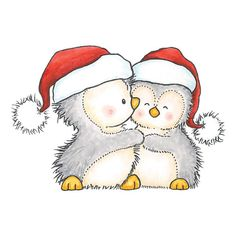 Penguin clipart penguin couple Pinterest Google penguin christmas cute