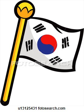 Korea clipart black and white Clipart Korean cliparts Flag Korea