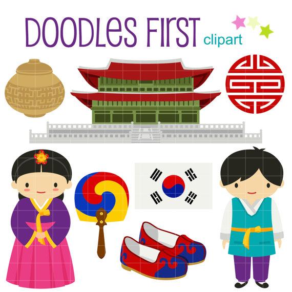 Korea clipart Clip Art Clip Crafts ScrapbookDigitalArt