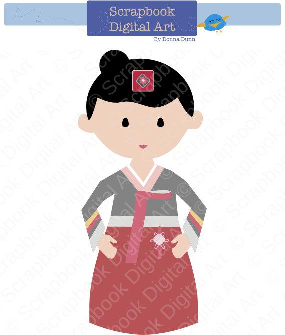 Korea clipart hanbok Clip a  is Girl