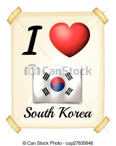 Korea clipart i love Download I Vector I Korea