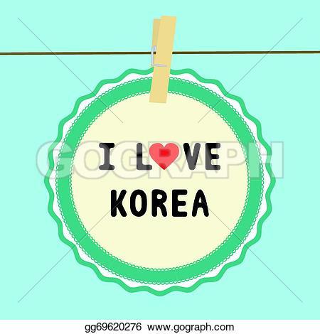 Korea clipart i love Illustration gg69620276 Vector Vector Vector
