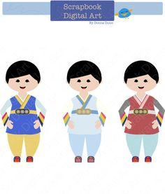 Korea clipart korean boy Art traditional Han Korea) Hanbok