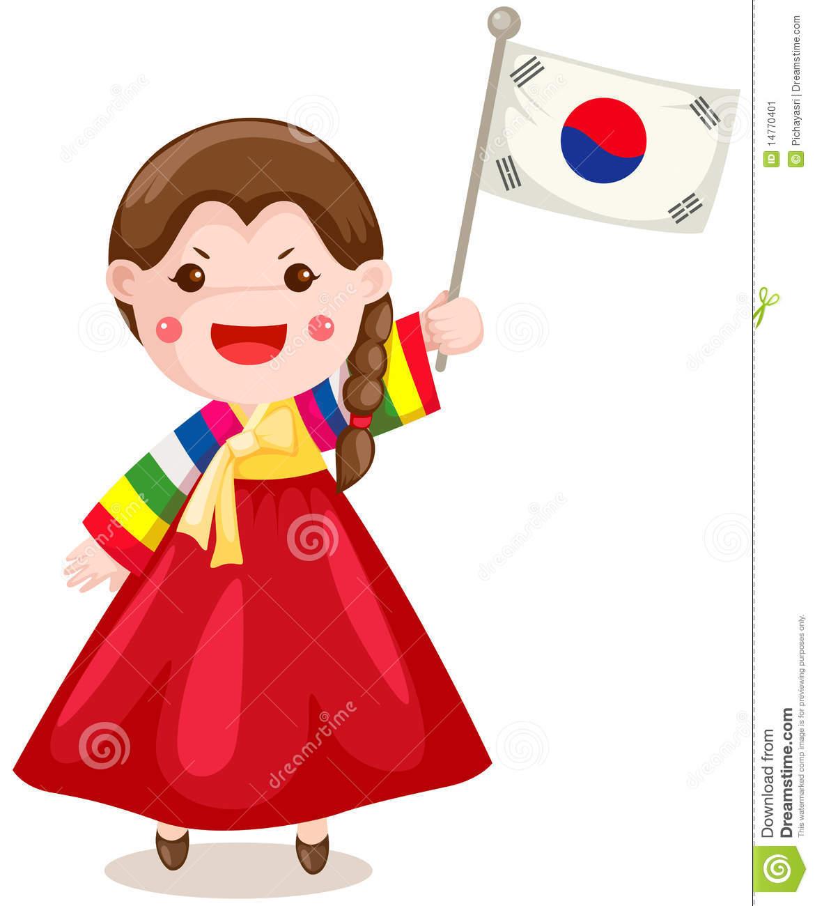 Traditional Costume clipart cute korean Korean Cute cliparts Korean Clipart