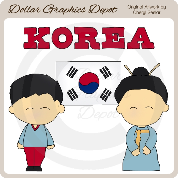 Korean clipart 00 $1 Depot Dollar Korean
