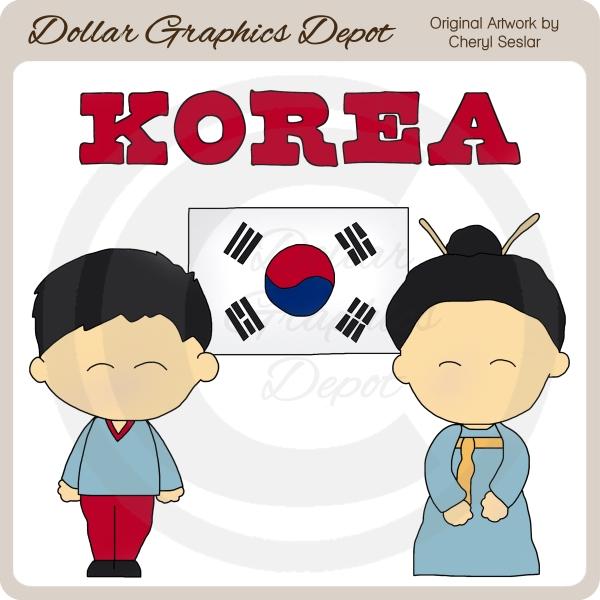 Korea clipart i love Graphics Korean 00 Kids Art