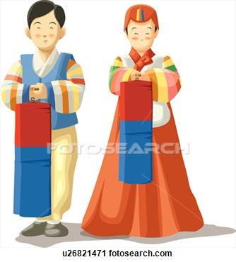 Korean clipart Korean cliparts Traditional Clipart Grandparents