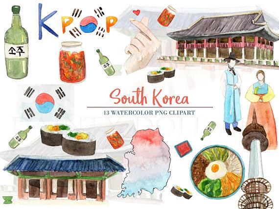 Korean clipart bibimbap Travel Watercolor Download is Clipart