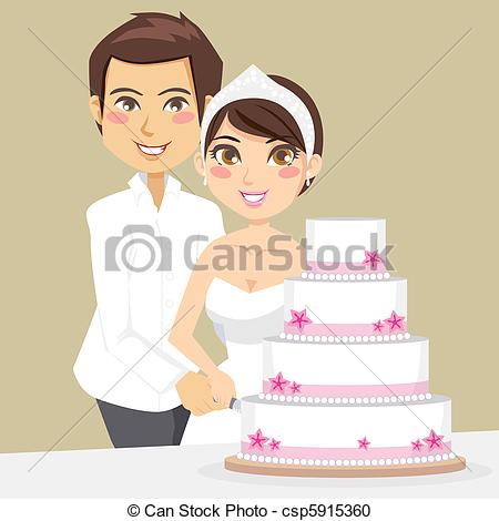 Korean clipart bride and groom Clipart of Cutting Cake Bride