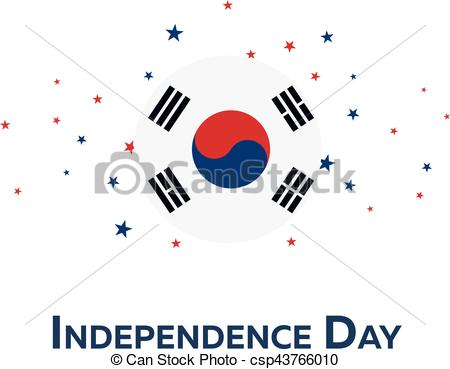 Korean clipart independence day Patriotic illustration Clip Independence day