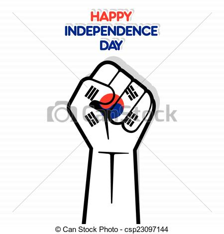 Korean clipart independence day Of day Vector happy independence