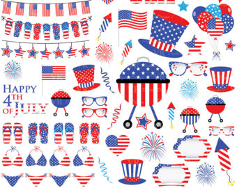 Korean clipart independence day Digital Clipart and 4th of