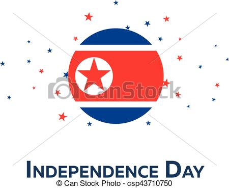 Korean clipart independence day  illustration Vector Independence of