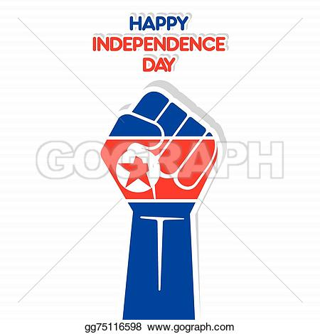 Korean clipart independence day Of design Stock EPS