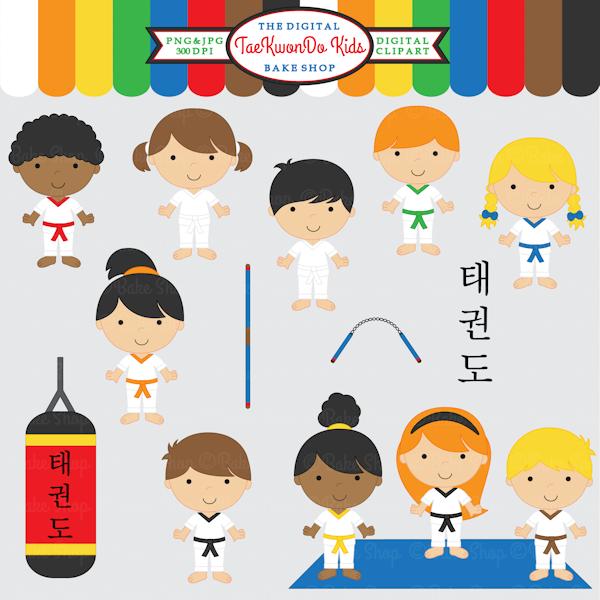 Martial Arts clipart sensei 15 Kids Taekwondo graphics invitations