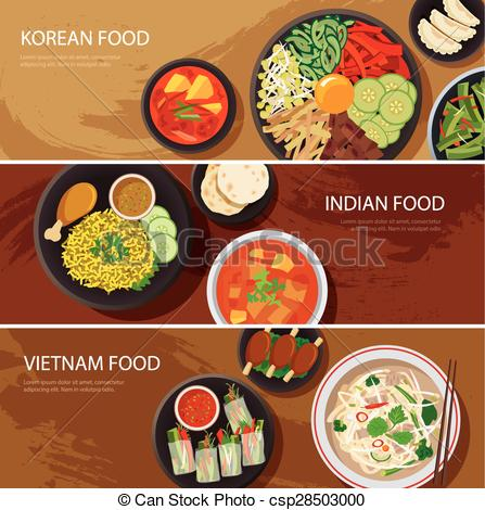 Vietnam clipart Korean asia banner web design
