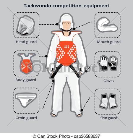 Korean clipart taekwondo Art Taekwondo Korean sport Taekwondo