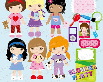 Party clipart pajamas 48028 IMGFLASH Kids Clipart Kids