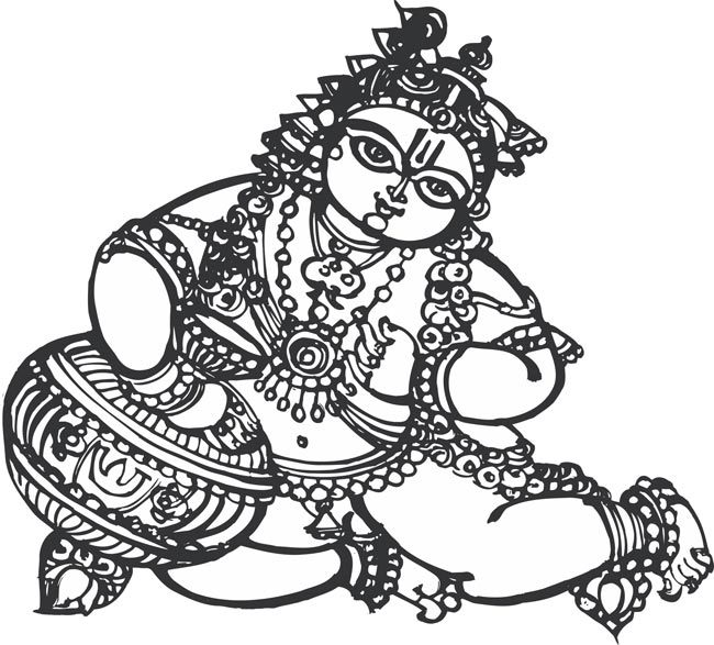 Krishna clipart Eps krishna DIYClipart download Stock