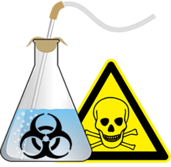 Toxic clipart science Safety Lab vector art Clker