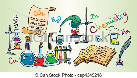 Laboratory clipart background Bright Color  csp4345218 Vector