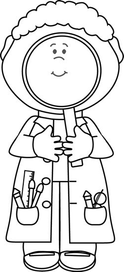 Scientist clipart black and white Find Clip 36 Art Science