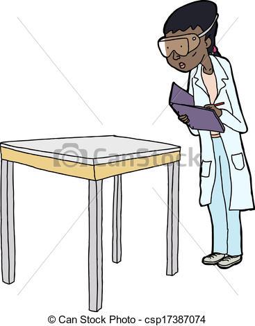 Coat clipart lab apron Scientist Notes Female of Vectors