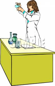 Coat clipart chemistry lab Clipart Picture Woman Lab In