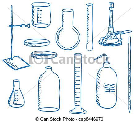 Liquid clipart laboratory instrument Doodle equipment Clipart  Vector