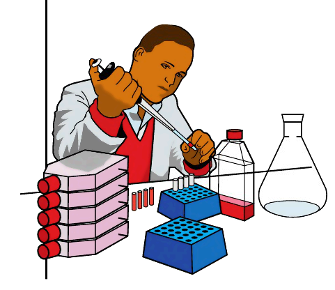 Scientist clipart lab work Blood Blood Clip Test Art