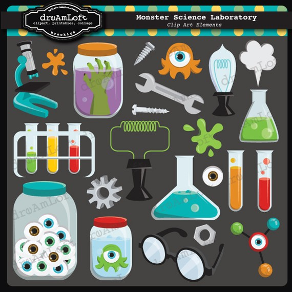 Bio clipart science laboratory Crafts Clipart Laboratory scrapbooking Collage