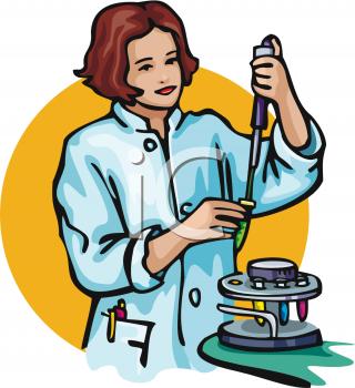 Scientist clipart lab work #15