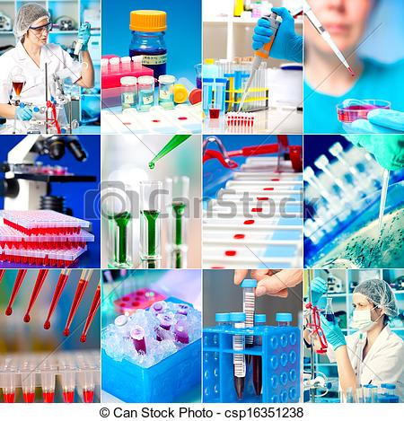 Laboratory clipart medical research Of  Photo set microbiology