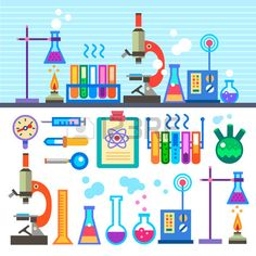 Laboratory clipart preschool science Stock MareeTruelove Clipart  Flat