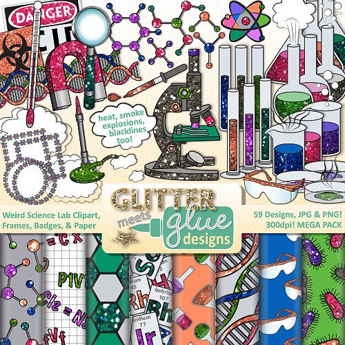Laboratory clipart science class Science Badges Chemistry Art Clip