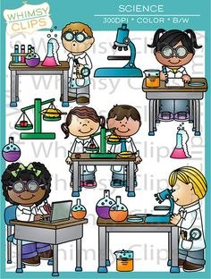 Laboratory clipart science classroom De on by WhimsyClipArt $8