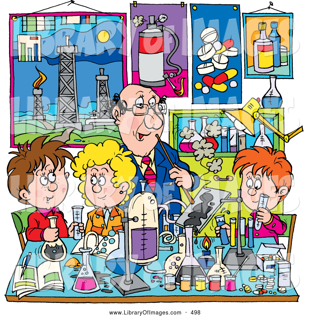Laboratory clipart science classroom Science Boys Supervising Stock School