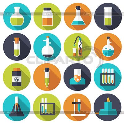 Laboratory clipart science experiment Chemistry icon Burlaka template Alexei