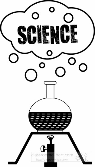 Science clipart black and white Science tube Pictures Science outline