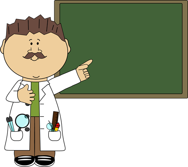 Blackboard clipart science Art Chalkboard Teacher Science Pointing