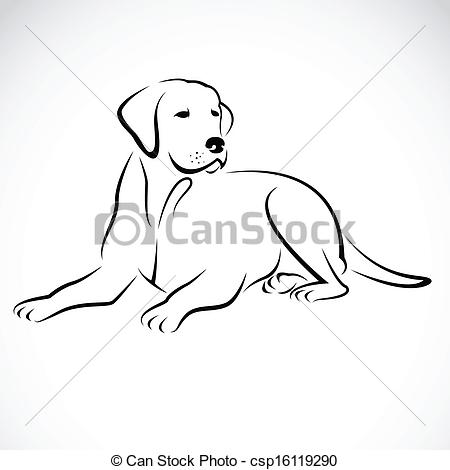 Perro clipart dog outline White image dog labrador dog