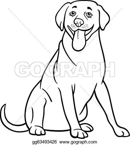 Labrador Retriever clipart Free dog labrador coloring for