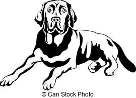 Labrador Retriever clipart Vector Clip labrador Black Labrador