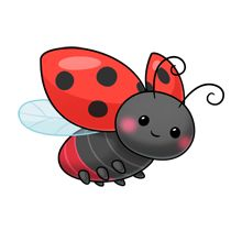 Bugs clipart flying lady 92 best Coccinelles on Flying